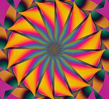 Hypnotic Neon Mandala by pelmof