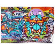 Graffiti Wall Art Tengu. Poster