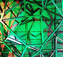 Fed Square Abstract 4 by Tleighsworld