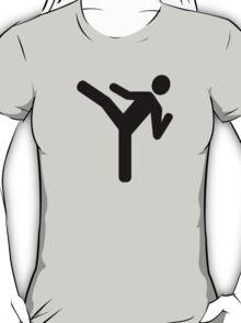 Martial arts kick symbol T-Shirt