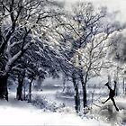 Winter Figure Skating Card by Doreen Erhardt