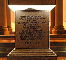 War Memorial-lest we forget by Russell Voigt