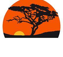 Sundays Africa safari tree savannah wilderness by Style-O-Mat