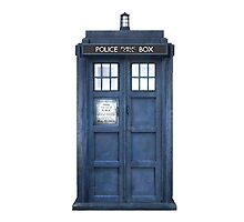 Tardis Blue - The Police Box by Amantine