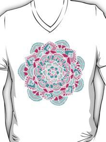 Hot Pink & Teal Mandala Flower T-Shirt