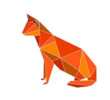 litlle origami made orange cat by Denny Stoekenbroek