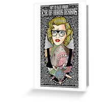 Satanic Monroe Greeting Card
