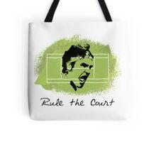 Roger Federer Rule The Court Tote Bag