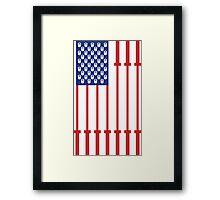 Barbell USA Flag Workout Shirt Merica Framed Print