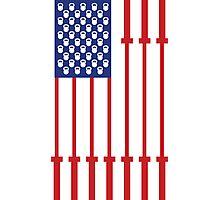 Barbell USA Flag Workout Shirt Merica Photographic Print