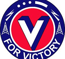 V For Victory Pin (WWII) by VeteranGraphics