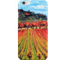 Napa Valley by Lisa Elley. Palette knife painting in oil. iPhone Case/Skin