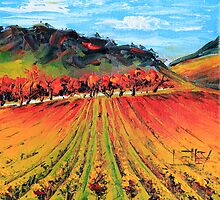 Napa Valley by Lisa Elley. Palette knife painting in oil. by lisaelley