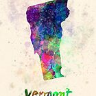 Vermont US state in watercolor by paulrommer