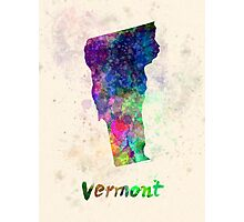 Vermont US state in watercolor Photographic Print