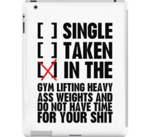 Relationship status GYM iPad Case/Skin
