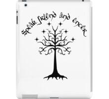 Speak friend and enter , Black iPad Case/Skin