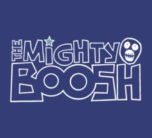 The Mighty Boosh – White Stencilled Writing & Mask by PonchTheOwl