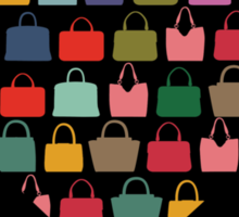 Colorful silhouettes women's handbags in Compositionof heart Sticker