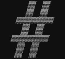 Hashtag of Hashtags in White by chipchops