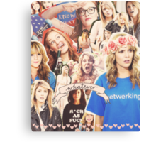 Grace Helbig Collage Canvas Print