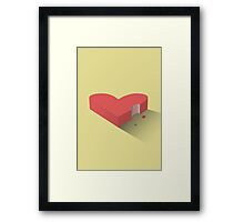 Reckless Hearts Framed Print