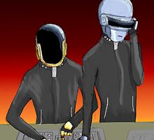 Daft Punk at work by felixfelicitas