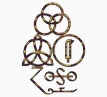 LED ZEPPELIN BAND SYMBOLS (BURNING BONES) by Endlessgrief