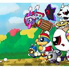 Run Kirby, Run! by redpawdesigns