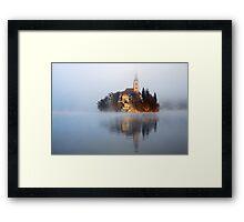 Through the mist Framed Print