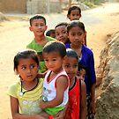 Village Children by John Dalkin