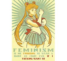 Feminism is Sailor Moon Photographic Print