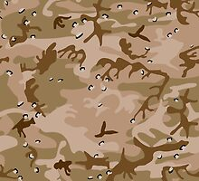 Brown Camo Pattern by TamiArtGallery