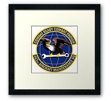 463rd Aircraft Maintenance Squadron - Combat Ready Combat Proven Framed Print