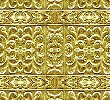 Gold Plated Ornament by DFLC Prints