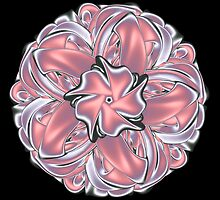 Satin Ribbon Knot Fractal Mandala by pelmof