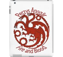 Game of Thrones/A Song of Ice and Fire Targaryen sigil Perzys Ānogār/Fire and blood iPad Case/Skin