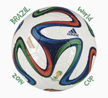 2014 FIFA World Cup Brazil match ball text Kids Clothes