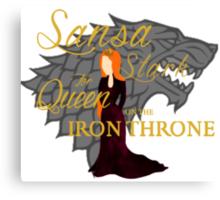Sansa Stark for Queen on the Iron Throne Canvas Print