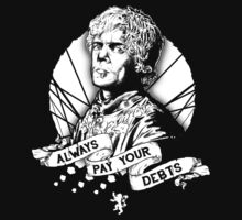 Pay Your Debts (White) by TeeKetch