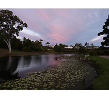 Pink Sunset over the Lily Lake Photographic Print