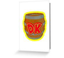 Donkey Kong Country - DK Barrel  Greeting Card