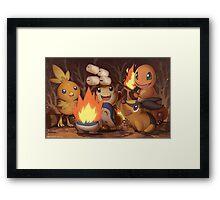 Fire Type Framed Print