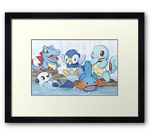 Water Type Framed Print