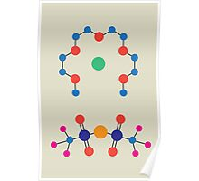 Lithium Tetraglyme TFSI Chemical Structure Poster