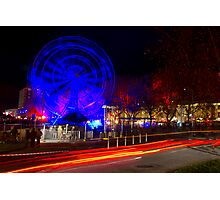 Wheel of Death street scene - Dark Mofo 2014 Photographic Print