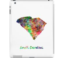 South Carolina US state in watercolor iPad Case/Skin