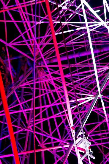Ferris Wheel Abstract - Dark Mofo 2014 by clickedbynic