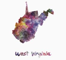 West Virginia US state in watercolor Kids Clothes