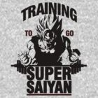 Training to go Super Saiyan by skilfulstarship